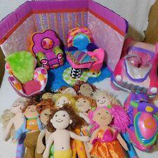 Large Lot of Groovy Girls Room Chairs School Desk Jet Ski Cadillac 11 Dolls