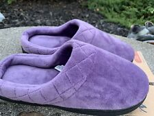 New Dearfoam  House Shoes Slippers Purple Size Small 4/6 Boho Retro Comfy ECU