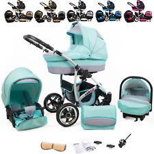 Kombi Kinderwagen Sportwagen Buggy Autositz 3in1 System Kinderbuggy Babywanne