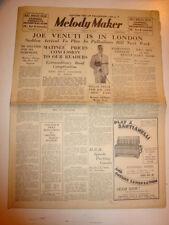 MELODY MAKER 1934 AUGUST 25 JOE VENUTI DAWN DAVIS HENRY HALL PALLADIUM