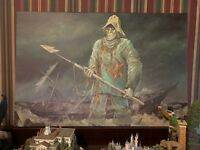 "Disney World Mariner Captain Culpepper 20x30"" Haunted Mansion Sinister 11 Giclee"