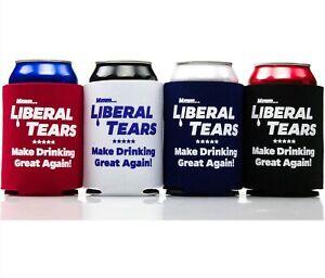 "[4 Pack] ""Liberal Tears"" Make Drinking Great Again Funny Drink Koozie Set"