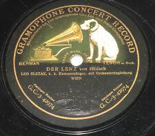 78rpm/Gramophone GC-3-42974/LEO SLEZAK/HILDACH/DER LENZ/SCHUBERT/STÄNDCHEN