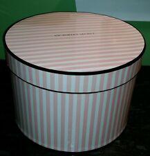 Victoria's Secret large round store prop hat bra panty box pink & white stripes
