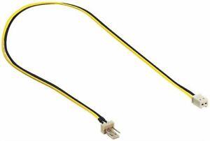 Lüfter Adapter Kabel 3 PIN Molex auf 2 PIN Lüfterkabel 3polig auf 2-polig 30 cm