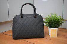 MICHAEL KORS MK Black Leather LOGO Medium Cindy Grab Shoulder Bag RRP £305 BNWT