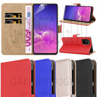 CASE FOR SAMSUNG GALAXY S10 LITE REAL GENUINE LEATHER SHOCKPROOF WALLET FLIP