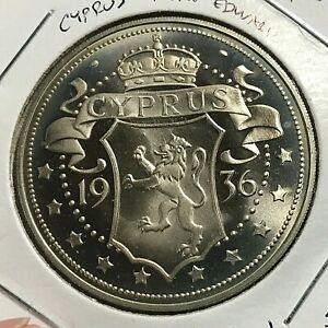 1936 CYPRUS EDWARD VIII FANTASY PATTERN CROWN LOW MINTAGE
