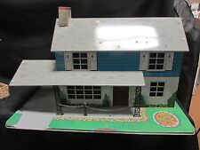 Vintage Marx Car Port Two Story Metal Doll House