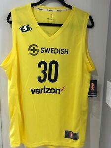 New Men's Fanatics Breanna Stewart Seattle Storm WNBA Yellow Jersey Large
