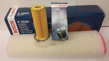 BMW E60 E61 530D 2993cc Oil Air Filter Service Kit Genuine Bosch  2003-10