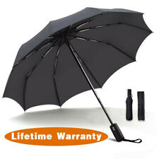 Windproof Double Layer Inverted Umbrellas Reverse AUTO Folding Umbrella Anti-UV