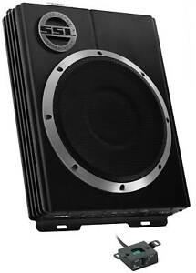 "SoundStorm LOPRO10 10"" 1200W Car Audio Slim Under Seat Powered Subwoofer Sub"