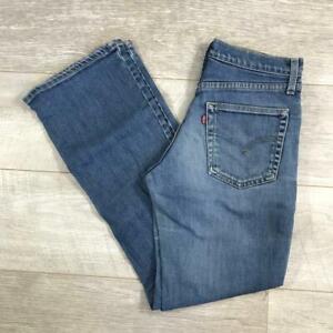 """Womens Blue LEVIS 525 30""""W 32""""L Vintage Bootcut Denim Jeans 525's #B4363"""
