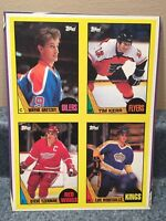 1987-88 TOPPS HOCKEY BOX BOTTOM GRETZKY, YZERMAN, KERR , ROBITAILLE GREAT COND