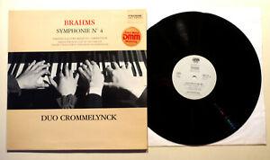 LP Pavane BRAHMS Symphonie n°4 Version Piano 4 mains Duet DUO CROMMELYNCK