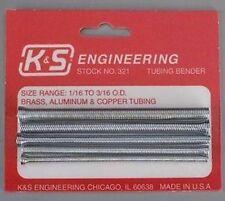 """SET 5 TUBE BENDING SPRINGS For 1/16 - 3/16"""" OD Tubes Model Engineer Live steam"""