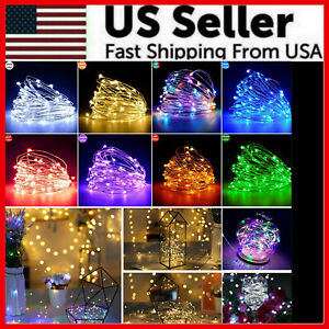 2M 5M 10M 100 LED Christmas Tree Fairy String Party Lights Lamp Xmas Waterproof