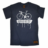 Burn Fat Not Oil MENS RLTW T-SHIRT tee cycle cycling bicycle birthday gift