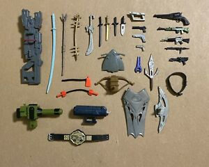 (30) Vintage Action Figure Weapons & Accessory Lot Gun Sword Shield Belt RARE