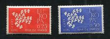 Série FRANCE neufs TB** YT n° 1309 + 1310 - EUROPA - 1961