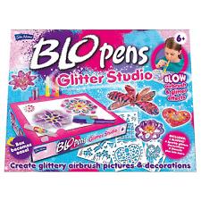 John Adams BLO Pens Glitter Studio Incl 5 Blo pens + more (Box becomes easel)