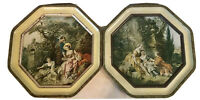 """Sunshine Biscuits Tin Lid Plaques """"The Charm of Country Living"""" & """"The Nest"""""""