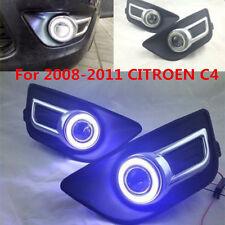 2X New LED Daytime Fog Lights Projector angel eye kit For 2008-2011 CITROEN C4