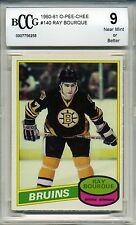 1980 OPC Hockey Ray Bourque Rookie Card BGS BCCG 9 O-Pee-Chee