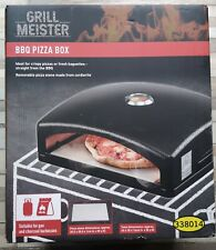 Grill Meister BBQ Pizza Box Oven Gas & Charcoal with Cordierite Stone Barbecue