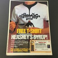 VTG Retro 1986 Hershey's Syrup FREE T-Shirt & Dole Pineapple Print Ad Coupon