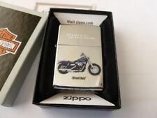 Zippo Original- Made in USA-Harley Davidson-Street Bob-totalmente nuevo en caja.