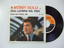 """Bobby Solo – Una Lacrima Sul Viso - Disco Vinile 45 Giri 7"""" Promo ITALIA 1964"""