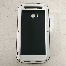LOVE MEI Aluminum Metal Cover Case For HTC One M8 CASE ONLY NO GLASS White