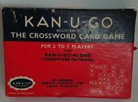 Vintage KAN-U-GO The Crossword Card Game 1934 Jarvis Porter