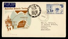 1958 AUSTRALIAN ANTARCTIC TERRITORY FDC CACHET DAVIS
