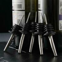 1*Stainless Steel Whiskey Liquor Oil Wine Bottle Pourer Stopper Spout Cap Q5Q2