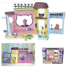 Girls Playset Littlest Pet Shop Cafe Building Dishes Plates Cups Food Furniture