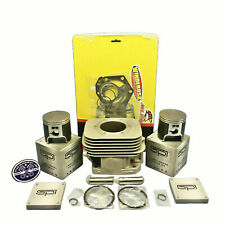 New OEM Polaris Steel Sleeved Cylinder 04-18 550F Fan Piston Gaskets IQ RMK 550