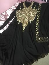 Anarkali Dress without Churidar -Black and Gold. Suit cover/bag included