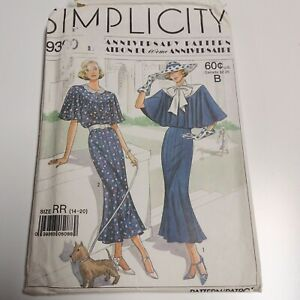 Simplicity 9360 1930s Day Dress Pattern NEW Uncut Sz 14 - 20 Pls Read