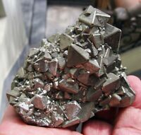 PYRITE OCTAHEDRAL CRYSTALS SATIN LUSTER from PERU........BOTH SIDES CRISTALLYZED