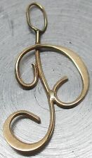 """Vintage SOLID 14K YELLOW GOLD Letter """"P"""" Initial Pendant ~ .5 GRAMS, NO RESERVE!"""