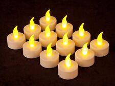 4 x CANDELE CANDELA TEALIGHT LUCI LED EFFETTO TREMOLIO A BATTERIA LUMINI LUMINO