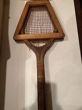 Wonderful Vintage 1900's Wood Harvard Cooperative Society Newport Tennis Racquet