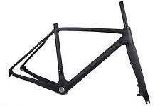 Carbon Fiber Cyclocross Bike Frame+Fork CX Bicycle Frameset 52cm BB30 UD Matt QR