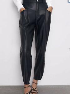 Fondo Cazar Forma Del Barco Pantalones Cuero Mujer Zara Ocmeditation Org