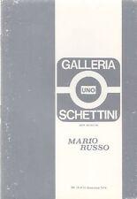 Mario Russo. Catalogo di mostra. Galleria Schettini Uno, 1974