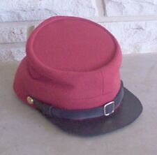 Confederate Artillery Kepi, Red, Civil War Hat, US Made, New