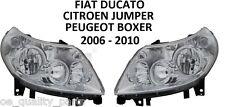 FIAT DUCATO CITROEN JUMPER PEUGEOT BOXER FRONT PAIR HEADLAMPS HEADLAMP 06-10 LHD